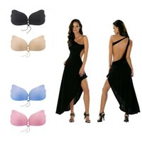 036ff0a838773 Butterfly Wing Invisible Bra Self Adhesive Silicone Invisible Push-up Bras  Self-Adhesive Gel Magic Stick for Women A B C D YYA492 50 PCS