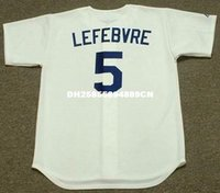 JIM LEFEBVRE Los Angeles Dodgers 1969 Majestic Cooperstown casa baseball Jersey