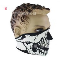 Wholesale Warm Costumes - Skull Face Masks Halloween costume party Half face mask Women Mans Outdoor Sport Neck Warmer Cycling Bike Bicycle Riding Face Mask