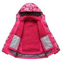 Wholesale Warm Waterproof Winter Jackets - 2016 Winter Outdoor Double Layer 2in1 Waterproof Climbing Skiing Jacket Windbreaker Boy Girl Warm Winderproof Coat Free Shipping