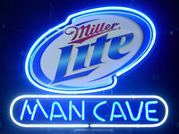 Wholesale Miller Lite Beer Neon Light - Brand New Miller Lite Man Cave Real Glass Neon Sign Beer light