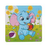 ingrosso giocattoli elefanti dei capretti-L'elefante di legno libero di trasporto gioca i giocattoli per l'istruzione ed i blocchetti di apprendimento dei bambini gioca il regalo di Natale del giocattolo educativo