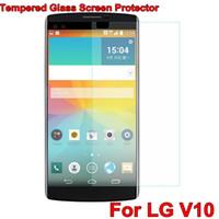 Wholesale Optimus L9 Hard - 2.5D Arc Edge 9H Hard 0.3mm Tempered Glass film For LG V10 High Transparent Mobile Phone Screen Protector