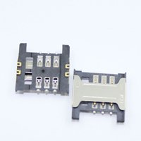 Wholesale sim socket connector resale online - original new SIM card reader socket holder slot connector for Lenovo A356 Red Xiaomi