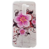 Wholesale Tribal Silicone - For LG K7 M1 K10 M2 F670 Soft TPU Case Flower Mandala Silicon Clear Be Happy Tribal Dreamcatcher Butterfly Colorful Skin Cell phone Fashion