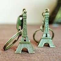Wholesale Eiffel Torre - Torre Eiffel Tower Keychain For Keys Souvenirs Paris Tour Eiffel Keychain Key Chain Key Ring Decoration Key Holder Porte Clef WA0144