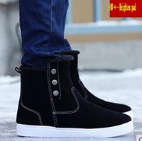 Wholesale Korean Flats Boots - Winter men 's snow boots Korean short tube men' s boots casual plus Mian Mianxian warm men 's Martin cotton boots bread shoes