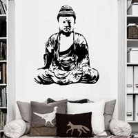 Wholesale 3d wall painting art - Removable Art Modern Printed Buddha Painting Picture Decoracion Buddha Paintings Wall Canvas Piictures For Living Room