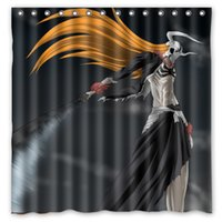 Polyester bleach ichigo sword - Bleach Ichigo Sword Hollow Wave Design Shower Curtain Size x cm Custom Waterproof Polyester Fabric Bath Shower Curtains