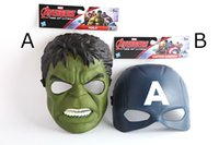 Marvel Avengers Film Exclusive Roleplay Hero Mask Captain America, Hulk Masque Pack Of 2 Party Supplies pour les enfants Enfants