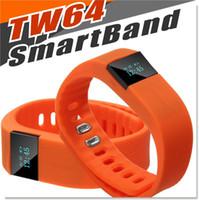 tw64 etkinlik izci toptan satış-TW64 Akıllı İzle Spor Aktivite Tracker için Smartband Bileklik Su Geçirmez Bluetooth 4.0 Akıllı Bilezik Ios android 5 Renkler