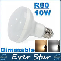 Dimmable R80 10W E27 Ampoules LED lumières 880 Lumens 14 Leds SMD 2835 Led Umbrella Lamp Chaud / Froid Blanc AC 85-277V