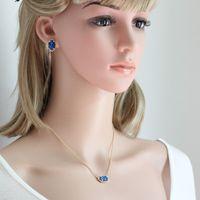 Wholesale Wholesale Druzy Earrings - Hot Popular Druzy Earrings Necklace Gold Silver Plated Quartze Oval Drusy Stone Earrings Necklace Jewelry Set for Women