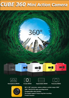 Wholesale Red Fps - 360 degree Camera CUBE 360 Mini Sport Action Cameras 1280*1042 28 fps 720P Panoramic VR Build-in WiFi Mini Ultra Travel Life DV Camcorder
