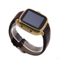 Wholesale Dual Camera Strap - W08 Bluetooth Smartwatch GPS 5MP Camera WIFI Android OS v4.4.2 3G WCDMA Smart Watch Leather Strap MTK6572 Dual Core 512MB 4GB