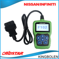 Wholesale Nissan Pin Code - Original OBDSTAR F102 Pin Code Reader For Nissan   Infiniti F-102 Auto Key programming Odometer correction tool DHL free Shipping