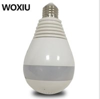 Wholesale Wholesale Led Security Lighting - WOXIU Camera Panoramic Bulb Wifi Light Hidden Security Ip Fish eye 360 960p Degree 360° 1080p Ir Cctv WIFi bulb monitoring 110-220V app V380