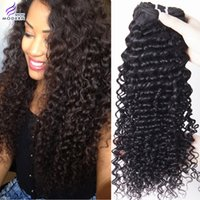 """Wholesale Curly Dye Colors - On Sale Brazilian Kinky Curly Hair Bundles 4Pieces Mixed Lengths 100% Virgin Remy Human Hair Extensions 10""""-26"""" Natural Black 1B# Hair Dye"""