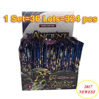 Wholesale Ancient Paper - 324pcs set Newest ANCIENT ORIGINS Poke Trading Cards English Anime Card Game for Children Kids Pikachu Model Poke Card Party Board Game Toys
