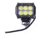 luz de inundación 18w al por mayor-18W LED Barra de luz de trabajo 4WD Haz de inundación Conducción campo a través Lámpara de niebla ATV SUV Índice de protección: IP67
