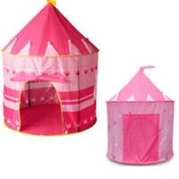 outdoor mädchen zelt großhandel-Großes rosa Prinzessin-Zelt-nettes Kind-Spiel-Haus-schönes Spiel-Zelt-hübsches Innen- und Spiel-Zelt im Freien, Mädchen-Weihnachtsgeschenk