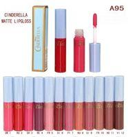 Wholesale cinderella lipstick resale online - Brand Makeup Cinderella Matte Lipgloss Liquid Lipstick Color ML A95