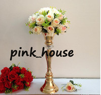 Wholesale new product elegant Hot sale gold mental flower stand for wedding centerpiece home party wedding decoration