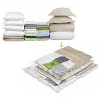 Wholesale Hanging Vacuum Space Bag - Wholesale- Hanging storage pocket vacuum bag clear border foldable extra compressed organizer Saving Space Seal Bags containers for clothes