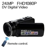 Wholesale Camera Cmos Hdd - 2016 NEW 24MP DV Digital Video Camera professional Full 1080P 16xZoom hd digital camera Camcorders photography backdrops 8G 16G memory