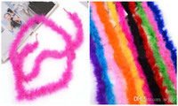 ingrosso piumoni per feste-The Flat Feather Down Bouquets Of Christmas Ornaments Articolo Tube Villi Wedding Party Dressup Home Flower Décor Feather Boa Fluffy