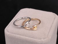 Wholesale Silver Wedding Ring Wrap - New Jewerly Rings Arrow Wrap Of The Angel Love Fox Opening Adjustable Ring For Women