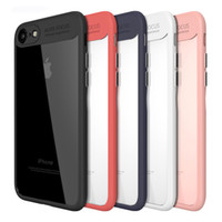 Wholesale Phone Case Auto - Auto Focus Slim Silicone Cellphone Case Clear TPU Phone Protective Cover Skin for iPhone 8 X 7 6 Plus