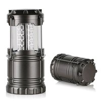 Wholesale wholesale lighting for sale - 30LED camping lantern lamp outdoor collapsible lantern emergency Flashlights Portable Black Collapsible For Hiking Camping Christmas lights