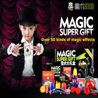 5-7 Years stage plays dvd - Magic Trick Set Kinds Magic Play with DVD Teaching Professional Magic Tricks Stage Close Up Magic Prop Gimick Card Puzzle Toy