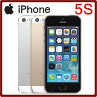 "Wholesale Iphone 5s Factory Unlocked - iPhone 5S Factory Unlocked Original Apple Refurbished Cell Phone iOS 8 4.0"" IPS HD Dual Core A7 GPS 8MP WIFI 64GB Free Shipping"
