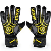 Wholesale Male Genuine Leather Gloves - 2016 New Adult male Genuine JA919 Back PU Soccer Goalkeeper Gloves Men's gloves with finger guard Slip resistant Professional Latex palm