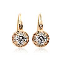 Wholesale Earring Rigant - Wholesale Original italina Rigant Women Crystal Earring 18k GP Austrian Crystal Wedding Earring BE00021 Free Shipping
