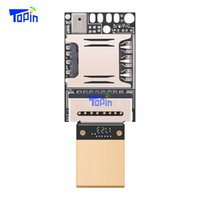 Wholesale Data Module - Ultra Small ZX618 PCBA Module MTK6261D Wifi LBS GPS Tracker Locator TF card Voice Recorder Monitoring Size 20*13mm Hide USB Data Cable 10pcs