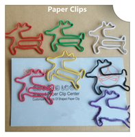 Wholesale Animal Clip Bookmarks - 200Pcs Reindeer Modelling Paper Clips Animal Creative Bookmarks Memo Clip Stationery for Office School Home Use Xmas Gift