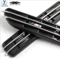 Wholesale Bmw E46 Exterior - 2x Black Decorative Front Fender Side Vent Grills Self-Adhesive Air Flow Exterior For All BMW M E46 E90 3 Series
