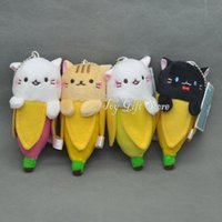 """Wholesale Ems Toys - Free Shipping EMS 4 Styles Banana Cat 4.5"""" 11.5cm Plush Doll Stuffed Toy Gifts New"""