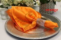 Wholesale Orange Table Napkins - Used For Wedding Decoration Satin Table Napkin In Orange Color
