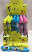 Wholesale Wholesale Plastic Pencil Boxes - Wholesale 36pcs Box Ballpoint Pens Pocket Monsters Pikchu 8 color ball pen Cartoon Ball point pen Pens, Pencils & Writing Supplies