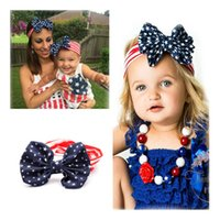 Wholesale usa headbands - US Flag Hair Band Headwrap Scrunchie Star Stripes Hair Accessories American Flag US Headband USA Stars America Accessories Hairband Tools