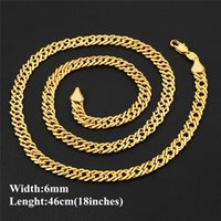 Wholesale indian men gold chain design for sale - Unique Design Chains Necklace K Yellow Gold Plated mm inches Chains for Men Women for Party Wedding JNXL1002