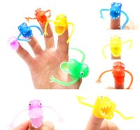 Wholesale Toy Story Decorations Wholesales - Free shipping party favors Novel plastic finger puppet story Mini dinosaur toys with small finger Gashapon toys mini party gifts
