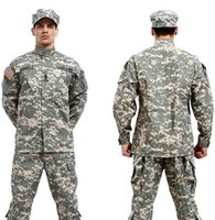 Wholesale Army Bdu - Wholesale-BDU ACU Camouflage suit sets Army Military uniform combat Airsoft uniform -Only jacket & pants