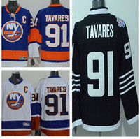 Wholesale Shirt Mens Cotton Polyester - TNew York Islanders #91 John Tavares Jersey Royal Blue Home Embroidery 2015 Mens NY Islanders Ice Hockey Jerseys Shirt Tavare
