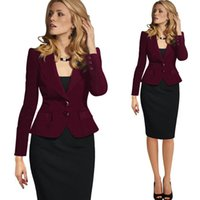 Wholesale Fashion Slim Lapel Collar Coat Women s Blazers Single Breasted Long Sleeve Ladies Formal Clothes Elegant Suits Misses Wear Casual Jackets
