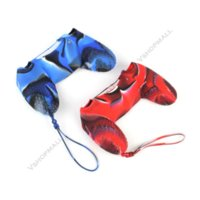 2X Camo Soft Silicone Case Gel Skin Capa para Sony PlayStation 4 PS4 Controller pele caso capa para iphone 4